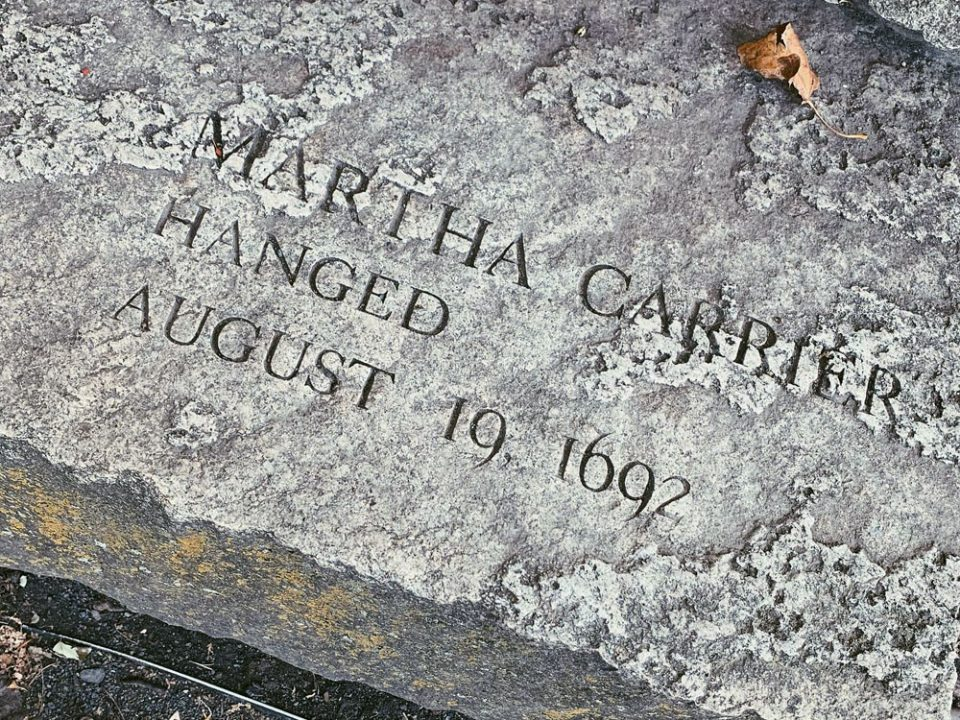 Historical Marker Recognizing Martha Carrier